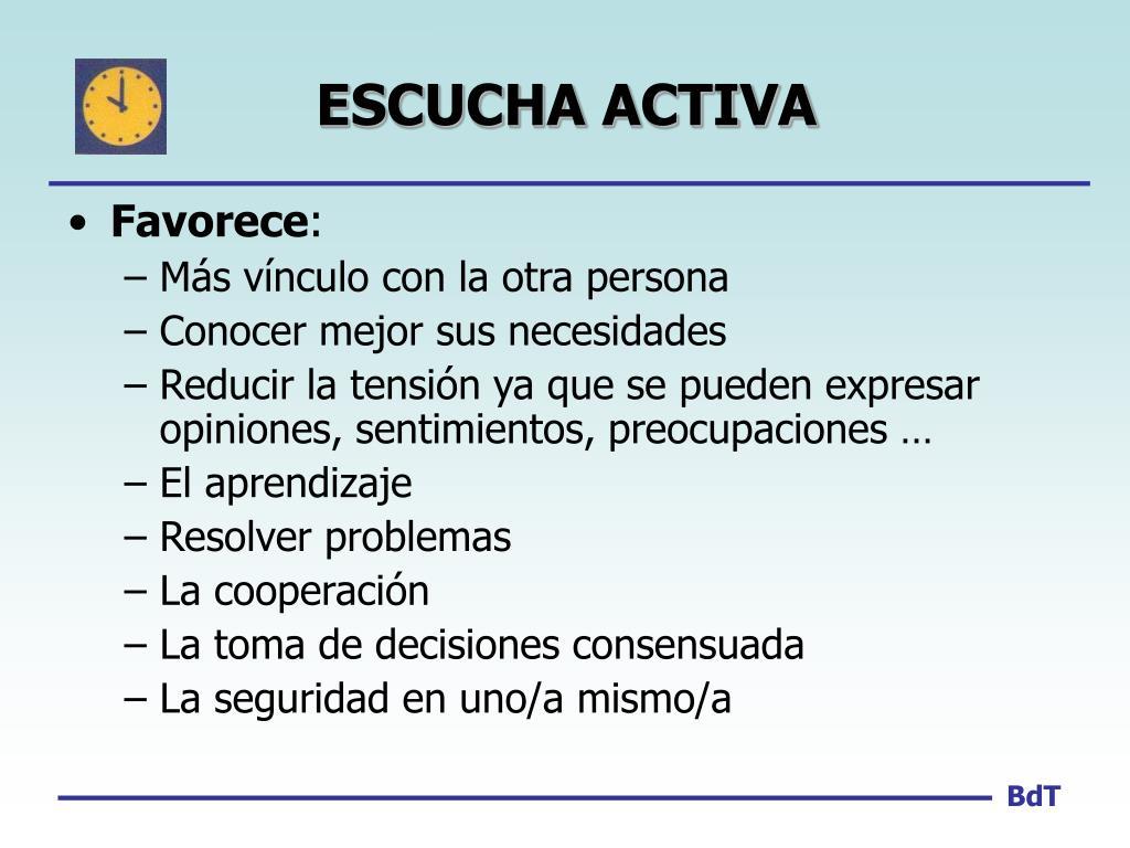 ESCUCHA ACTIVA