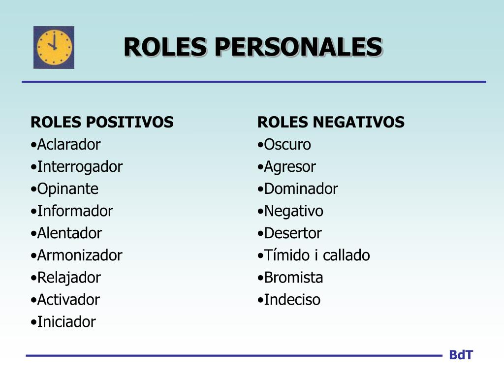 ROLES PERSONALES