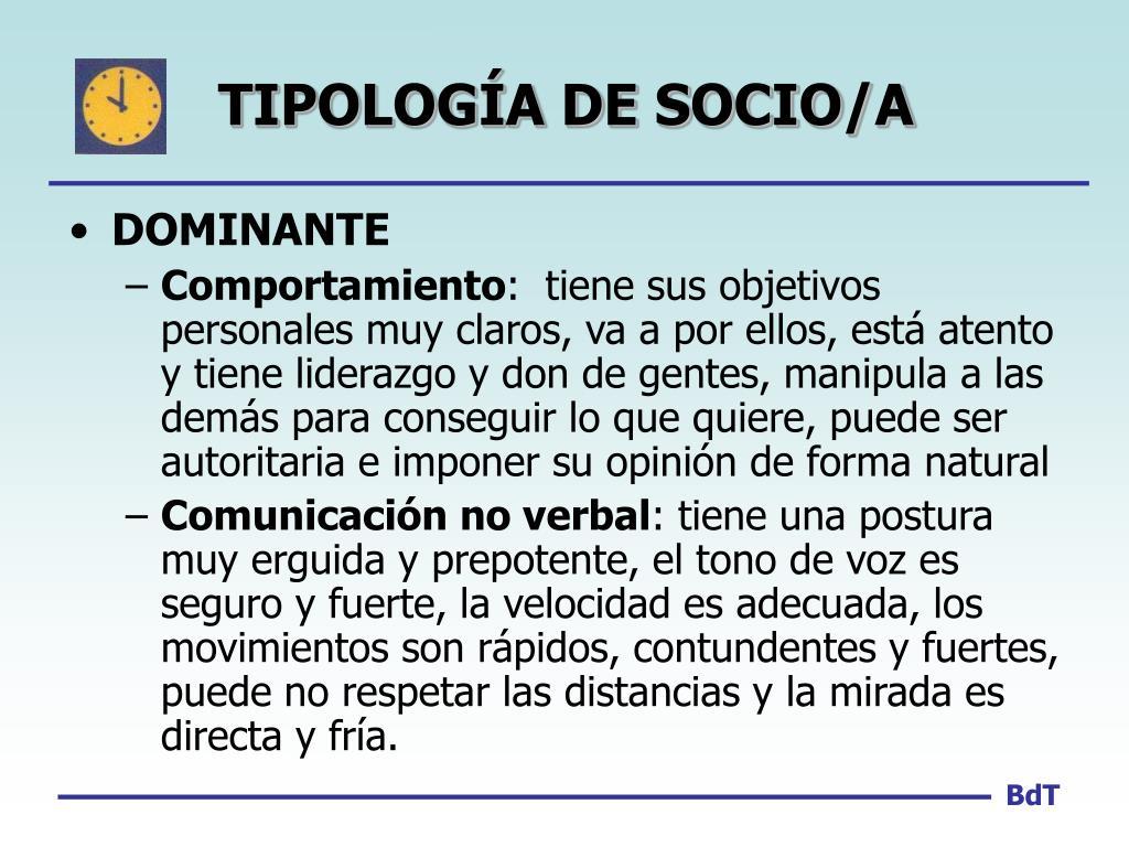 TIPOLOGÍA DE SOCIO/A