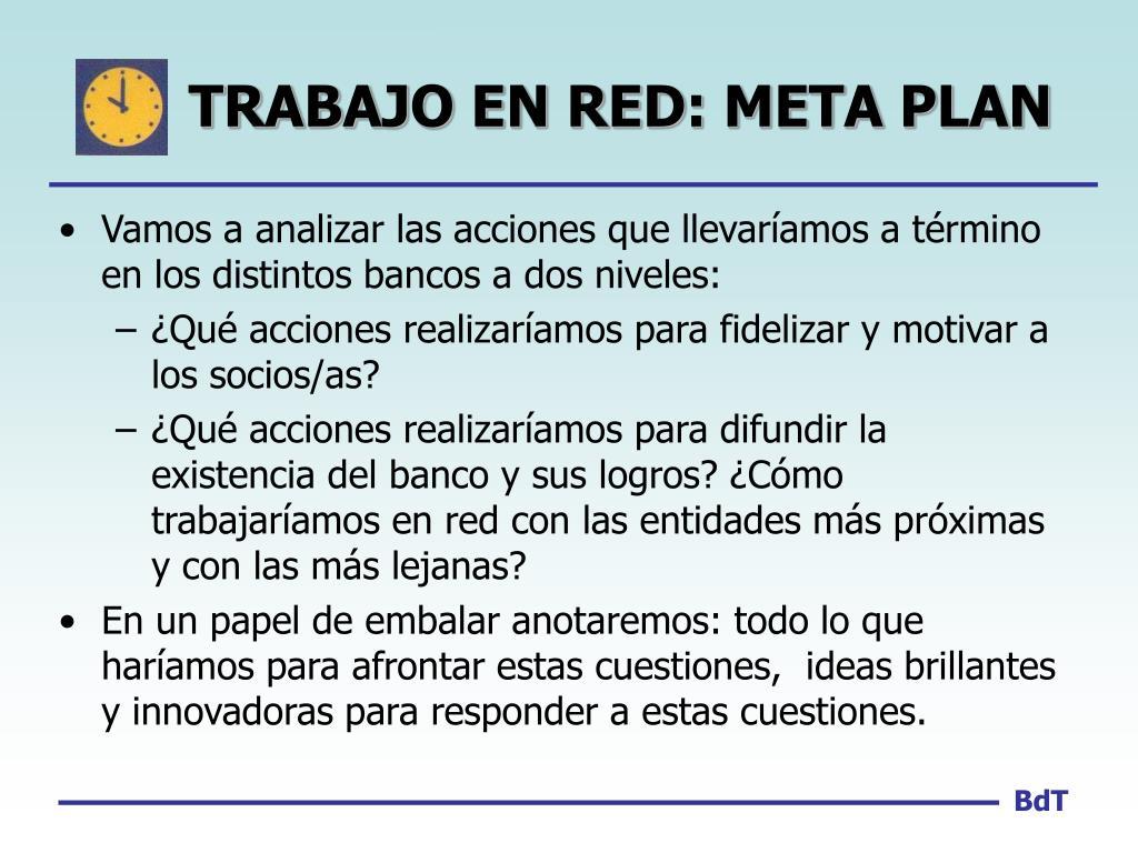 TRABAJO EN RED: META PLAN