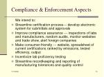 compliance enforcement aspects