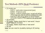 test methods epa draft positions