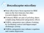 benzodiazepine miscellany
