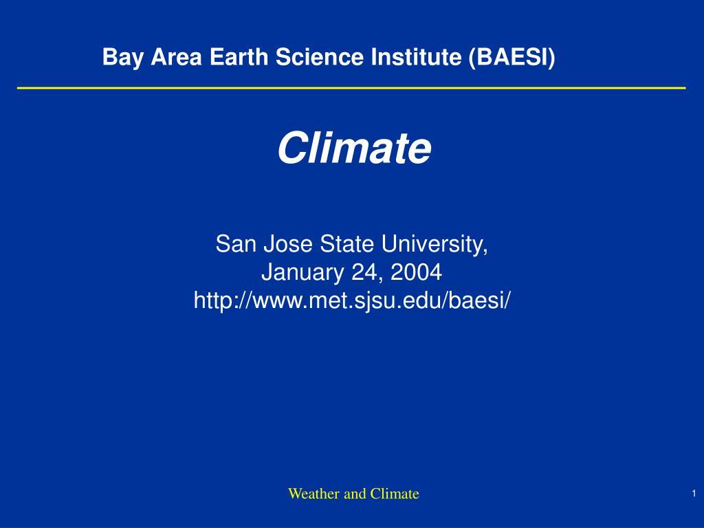 bay area earth science institute baesi l.