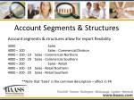 account segments structures