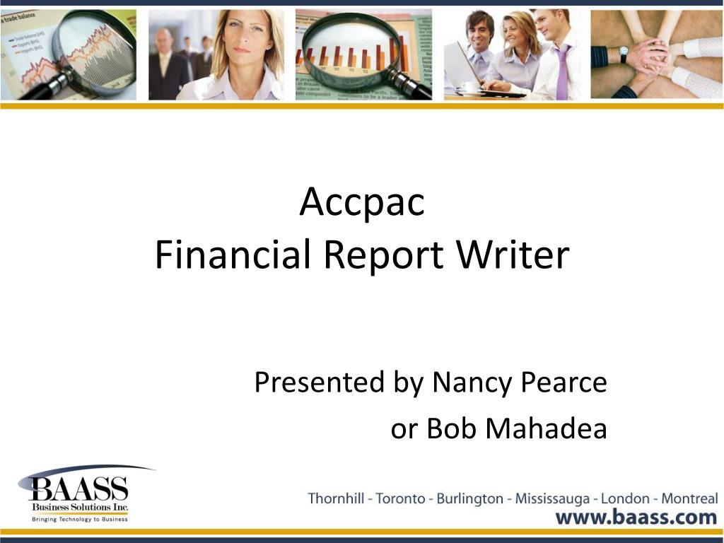 accpac financial report writer l.