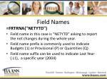 field names