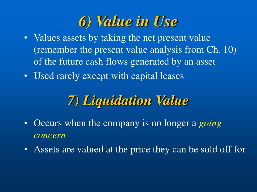 6) Value in Use