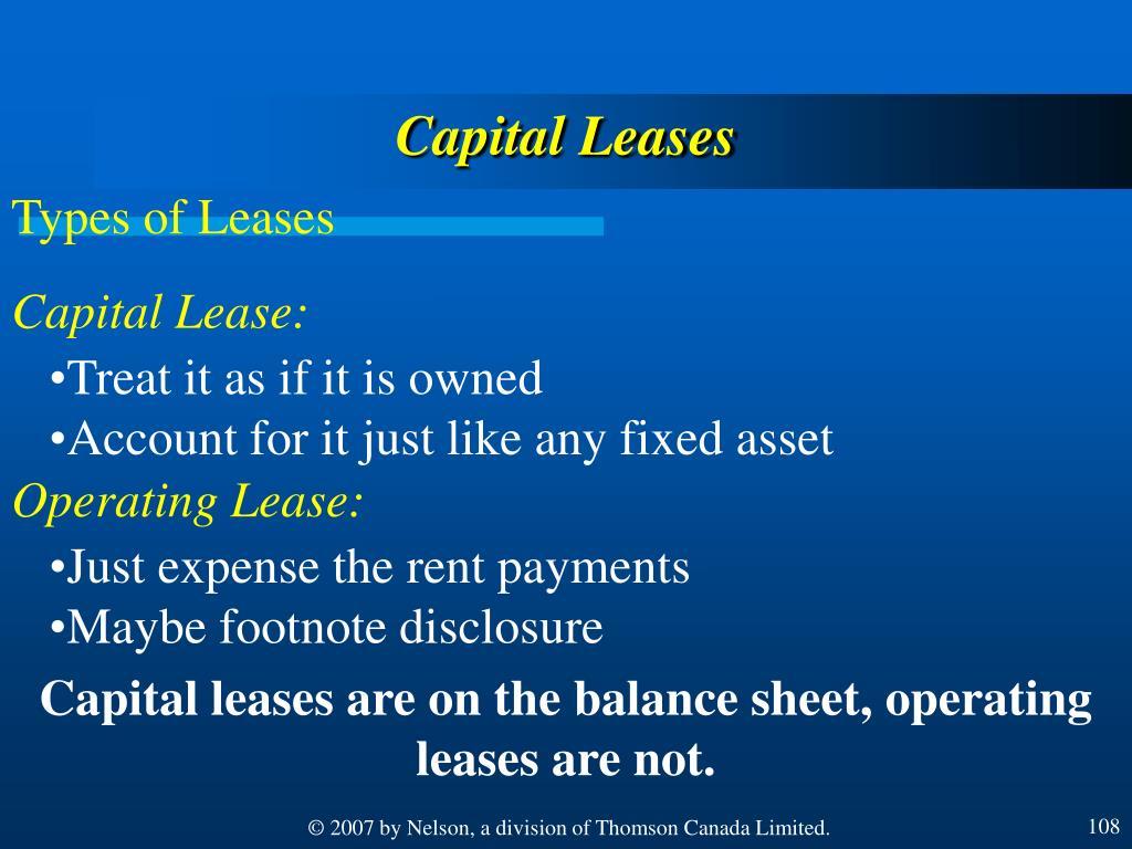 Capital Leases