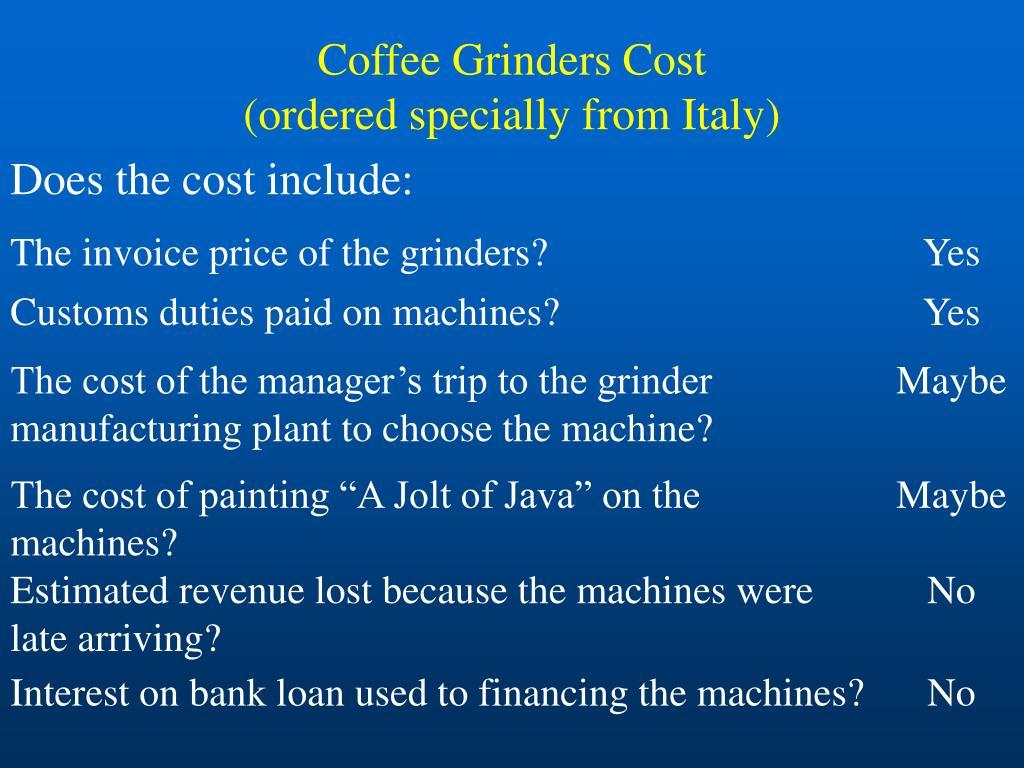 Coffee Grinders Cost