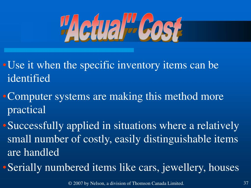 """""""Actual"""" Cost"""