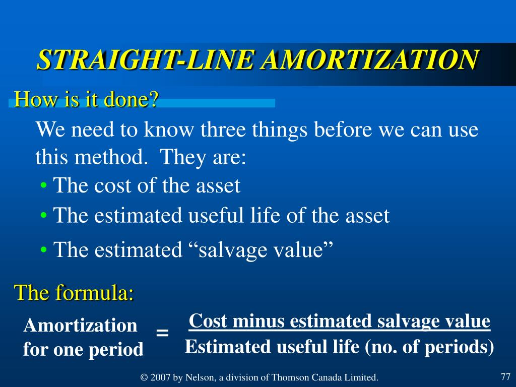 Cost minus estimated salvage value