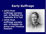 early suffrage