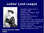 ladies land league