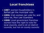 local franchises