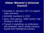 ulster women s unionist council