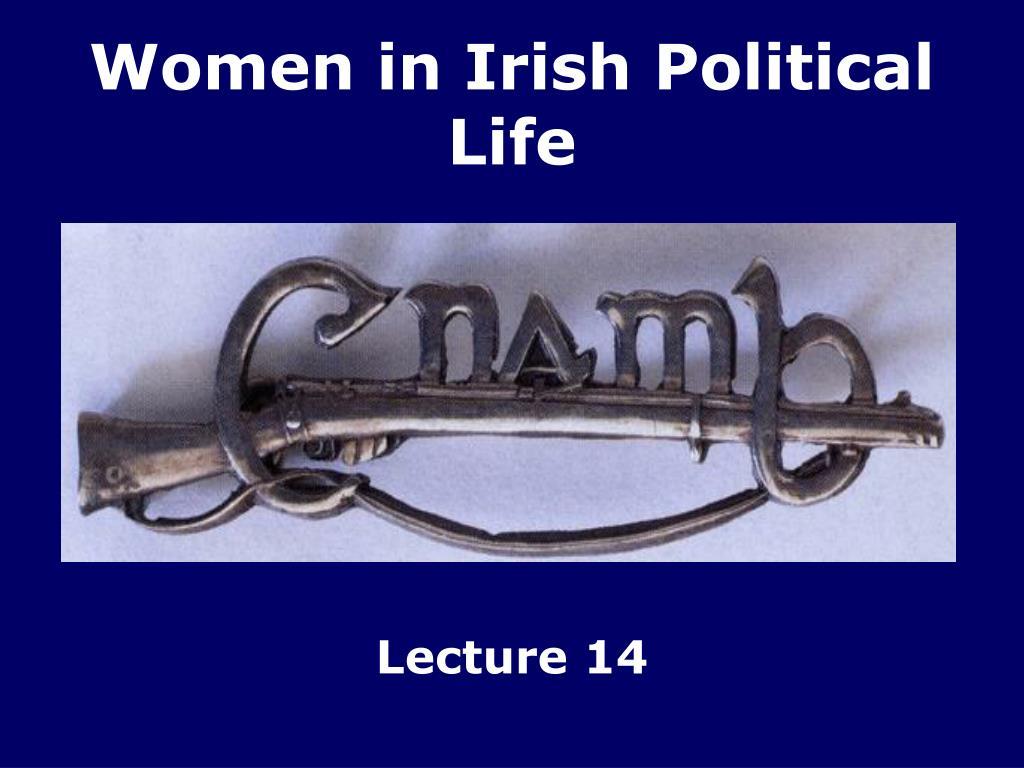 women in irish political life l.
