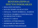 benzodiazepinas efectos indeseables