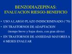 benzodiazepinas evaluacion riesgo beneficio