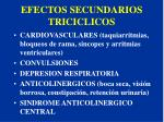 efectos secundarios triciclicos