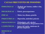causas frecuentes de insomnio