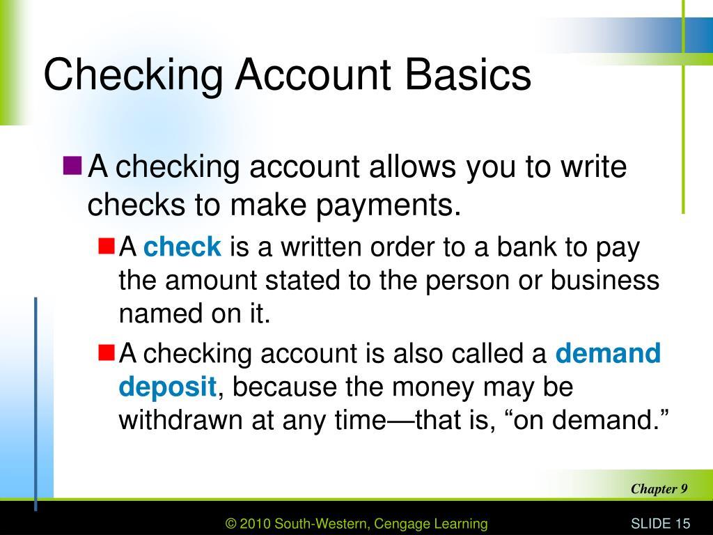 Checking Account Basics