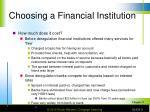 choosing a financial institution9