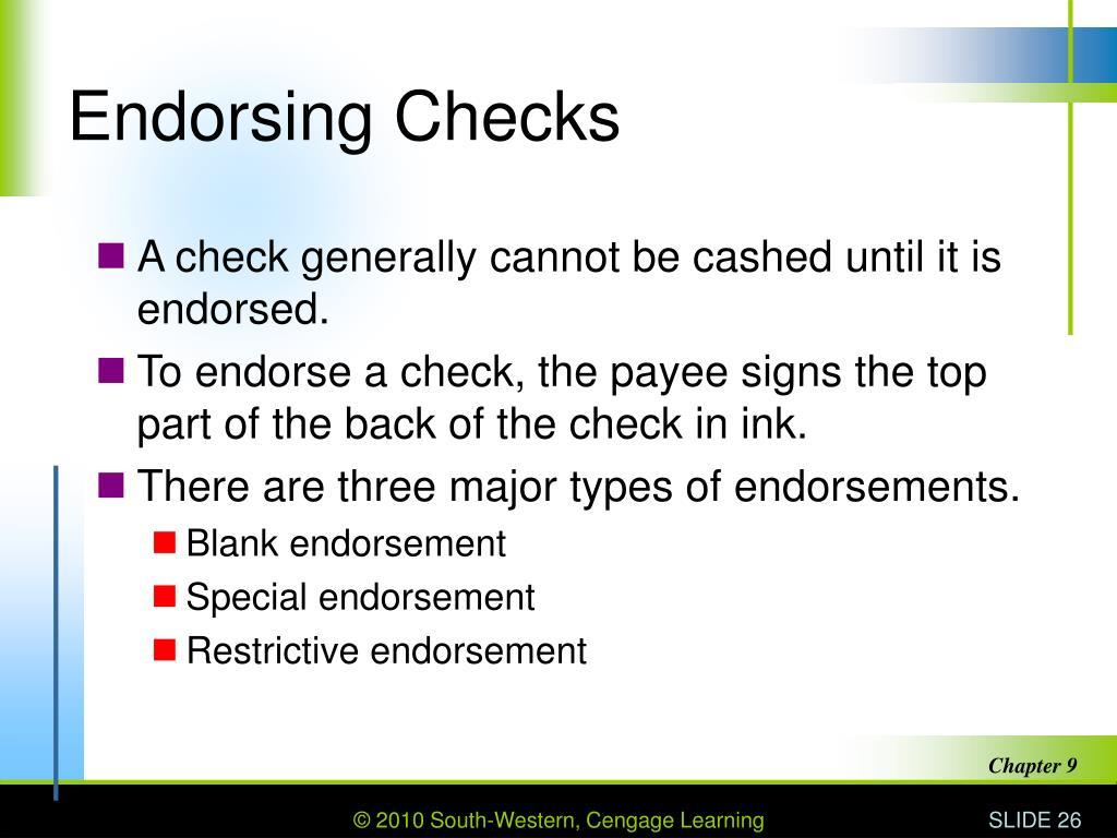 Endorsing Checks