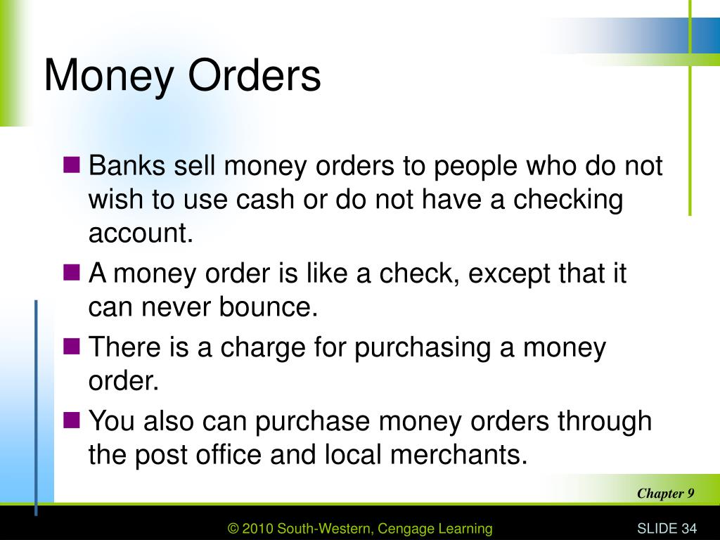 Money Orders