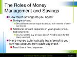 the roles of money management and savings4
