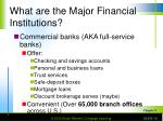 what are the major financial institutions