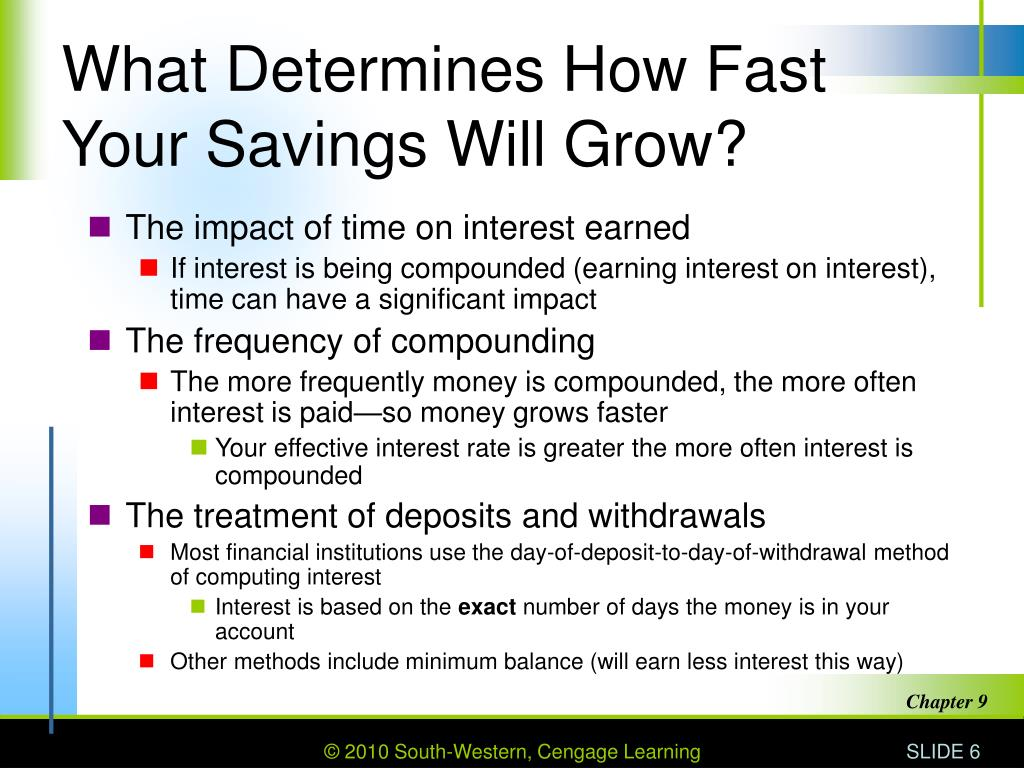 What Determines How Fast Your Savings Will Grow?