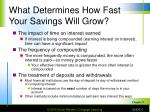 what determines how fast your savings will grow