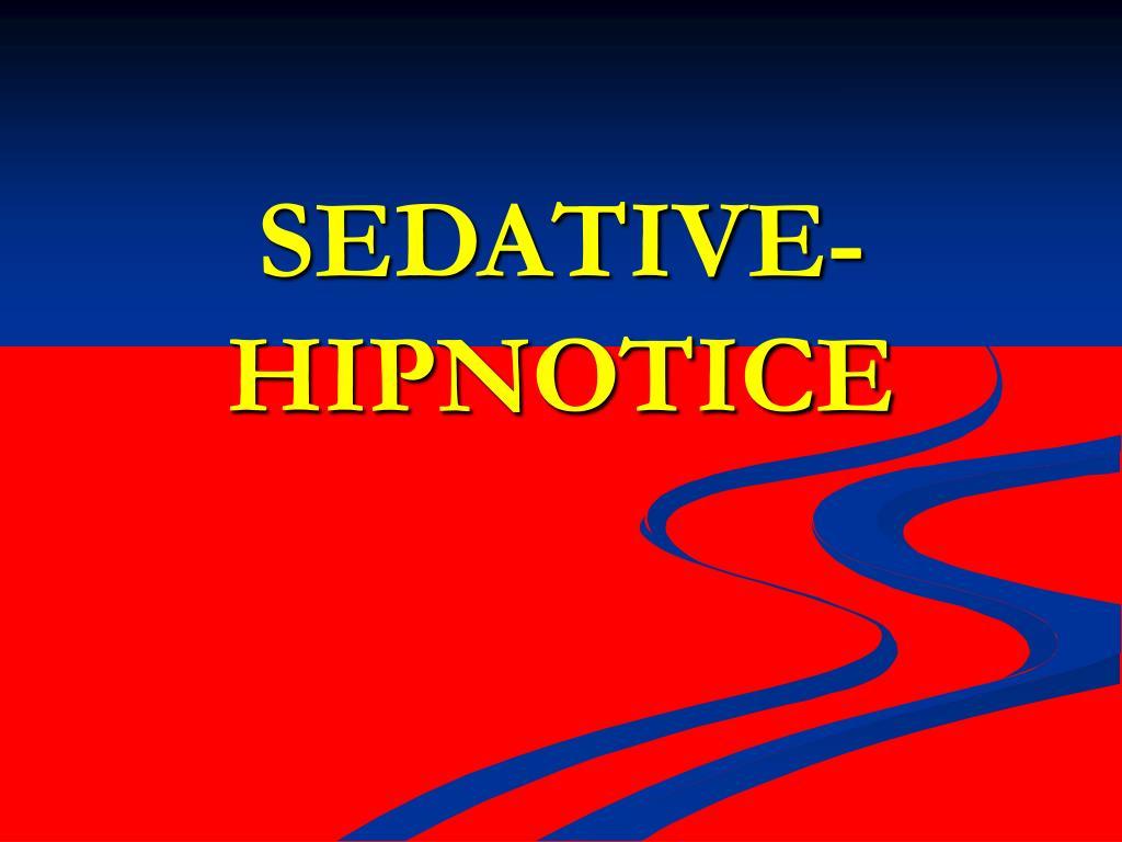 sedative hipnotice l.