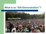what is an ida demonstration