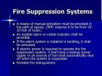 fire suppression systems38