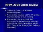 nfpa 2004 under review