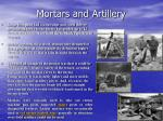 mortars and artillery
