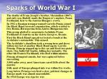 sparks of world war i