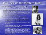 total war on the western front