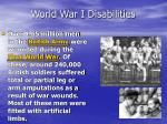 world war i disabilities