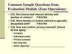 common sample questions from evaluation module zone operations20