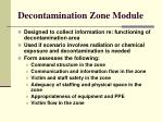 decontamination zone module