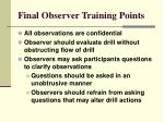 final observer training points