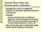 general observation and documentation addendum