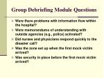 group debriefing module questions40
