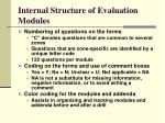 internal structure of evaluation modules14
