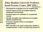 johns hopkins university evidence based practice center jhu epc