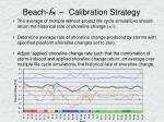 beach fx calibration strategy