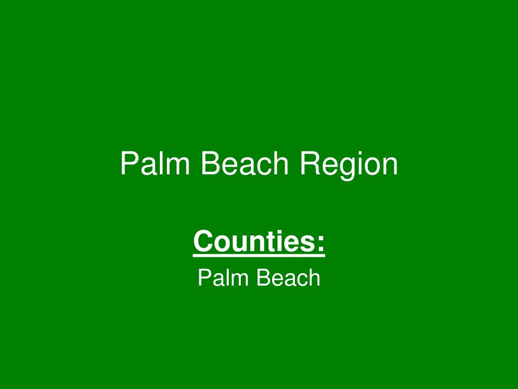 palm beach region l.